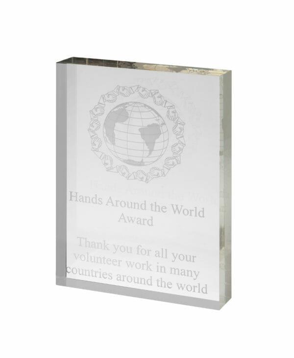 Acrylic Clear Chunky Trophy
