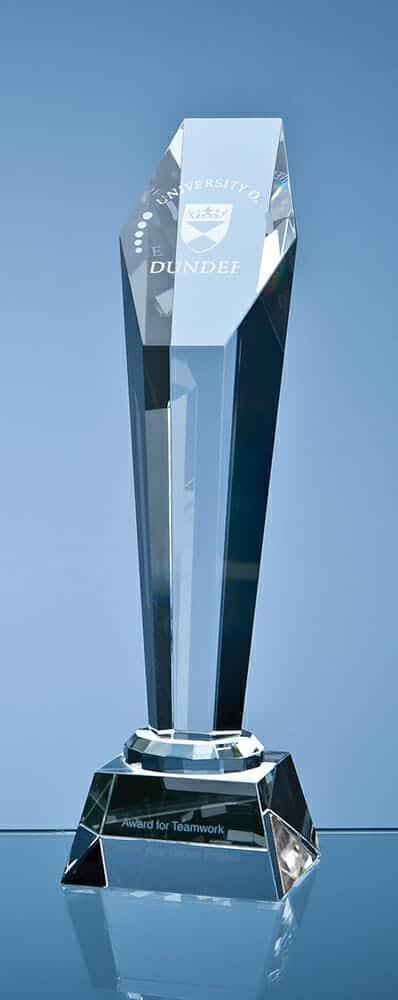 optical-crystal-award-hexagon-column
