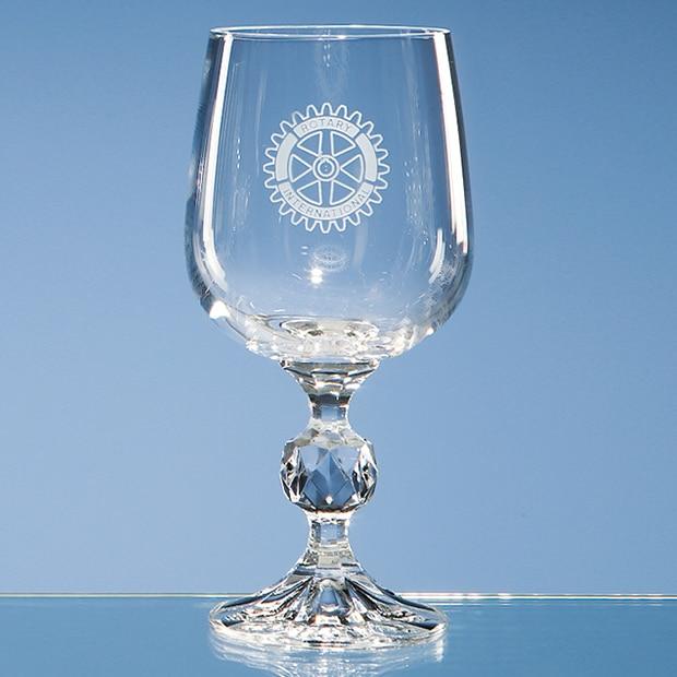 Engraved Crystal Goblet